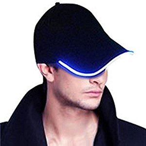 Light Up Hat , Glowseen LED Glow Baseball Hat ,USB Rechargeable -Blue