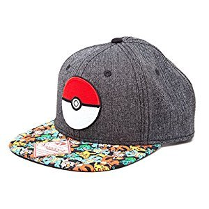 Pokemon Unisex 3D Pokeball & Pokemon Snapback Cap, One Size, Multi-Colour