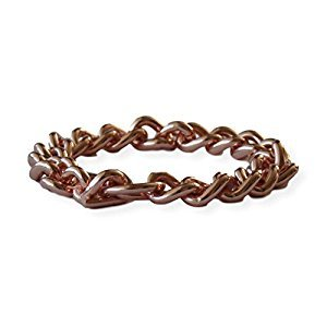 Solid Copper Non Magnetic Mens Chain Bracelet Relieves Joint Pain 7 1/2