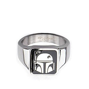 Star Wars Boba Fett Helmet Stainless Steel Ring | 10