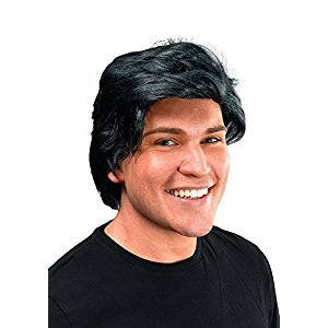 Bristol Novelty Mans Wig Side Parting. Black Wigs - Men's - One Size