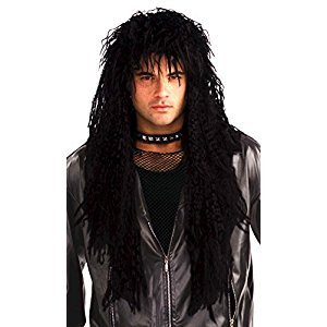 Forum Novelties Men's 80's Hard Rocker Wig, Black, One Size