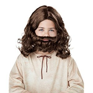 Jesus Wig & Beard Child ,Brown