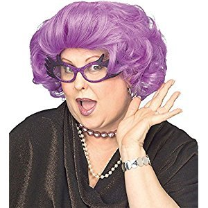 Purple Dame Drag Queen Wig