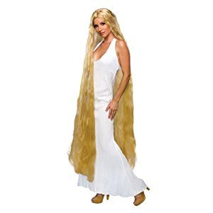 Rubies Costume 60-Inch Lady Godiva Blonde Wig, Yellow, One Size