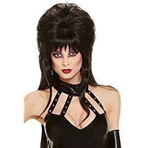 Rubies Costume Elvira Mistress of the Dark Long Wig, Black, One Size