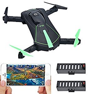 Contixo F8 Foldable Pocket Size Selfie Drone Voice Controls 720P HD Wi-Fi Live FPV Video Camera, Green