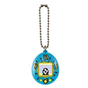 Tamagotchi 20th Anniversary Original Teal Yellow Toy Pet Hatch Feed Clean Keychain Bandai Official