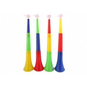 3 Section Stretch Sport Match Cheering Props Plastic Horn Trumpet Noise Maker
