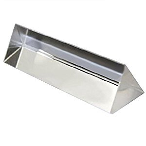 9CM Optical Glass Triple Triangular Prism for Physics Teaching Light Spectrum