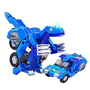 Dinosaur Transformer Toy Change into Car A Toy of Two Games with Light and Sound by Latburg