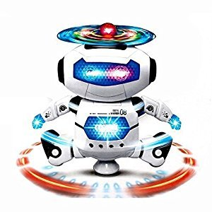 PowerLead Kids Electronic Walking Dancing Smart Space Robot Astronaut Music Light Toy