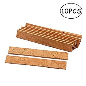 ULTNICE 10PCS Sax Neck Cork Sheets for Bb Clarinet Saxophone - 84x12mm
