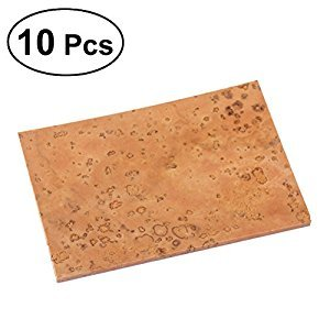 ULTNICE 10PCS Sax Neck Cork Sheets for Saxophone - 60x40mm