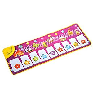 Wqueen Electronic Piano Toy Music Blanket Musical Music Touch Play Singing Gym Carpet Mat Toy Gift