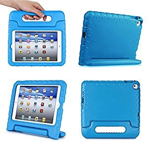 iPad Mini 4 Kids Case - Ruban Kiddie Light Weight Safe Shockproof Protection Handle Stand Cover for Apple iPad Mini 4 [Lifetime Warranty], Red