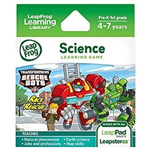 LeapFrog Explorer Learning Game: Transformers Rescue Bots Race to The Rescue
