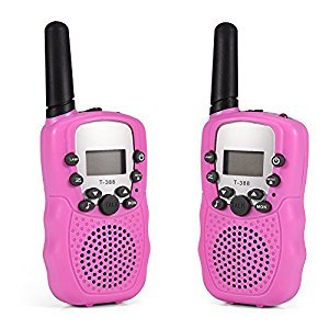 Fosa 2PCS 3KM Range 22 Channel Walkie Talkies 2-Way Radio Interphone for Outdoor Activity(Pink)