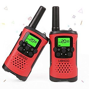 Kids Walkie Talkies, UOKOO Walkie Talkies for Kids 22 Channel FRS/GMRS Two Way Radio Up to 3KM UHF Handheld Walkie Talkies, Toys for 5-year Old Boys, Gifts for 7-year Old Boys and Girls (Red)