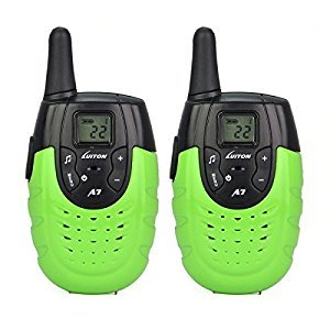 LUITON Kids Walkie Talkies A7 Top Rated Gifts For Children Outdoor Activities Two Way Radio(Green)