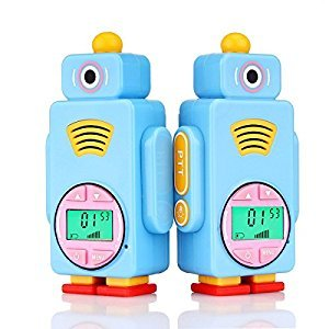 Retevis RT36 Kids Walkie Talkies Long Range Crystal voice Vox Flashlight Kids Rechargeable Walkie Talkies for Boys and Girls (Blue,2 Pack)