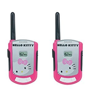 Sakar Hello Kitty 63309 2-Piece Set FRS Walkie Talkie, Pink