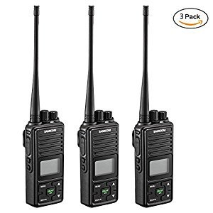 Samcom FPCN10A 20 Channel with Group Button two way radio,UHF 400-470MHz with 3km Range(Pack of 3)
