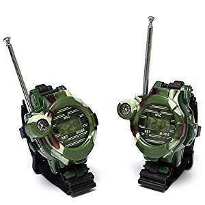 Walkie Talkies Watches 7 in 1 Multi-functional Toy Interphone for Children Parent-child Interaction 2pcs Camouflage Green