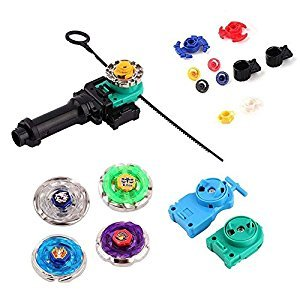 Abbyfrank New Top 4D Metal Master Spinning Rapidity Fight Fusion Rare Beyblade 4D String Launcher Grip Battle Set Kids Toys Gifts