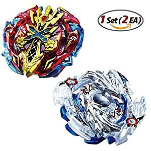Beyblade Burst B-48 Starter Xeno Xcaliber & B-66 Starter Lost Longinus Beyblades with Launcher Stater set