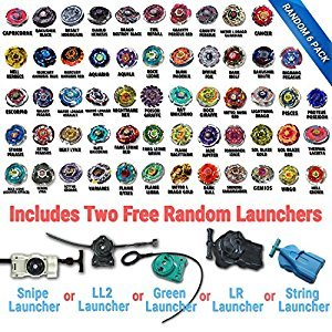Beyblade Random Booster 6 Pack Includes 6 Beys from Metal Fusion, Metal Fury, Metal Master Series + 2 Free Launcher! Shipped from CANADA