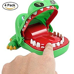 Crocodile Dentist, Axiba 2017 New Design Classic Biting Hand Crocodile Dentist Game Toy Funny Gift for Kids