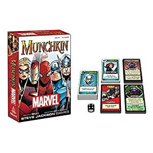 USAOPOLY MU011-000-001600-06 Munchkin Marvel Edition Game Play Set