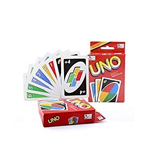 Younglingn Classic Board Game UNO Standard 108 English Fun Cards Game for Family, Number One for Family Fun
