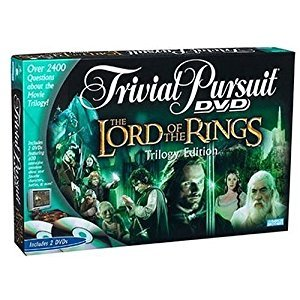 Parker Brothers Lord Of The Rings Trivial Pursuit Dvd Game: Trilogy Edition, Model 42395