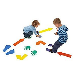 Floor Game Class Fun Twister Active Play Family Game with 12 EVA Hands,12 Feet,12 Arrows