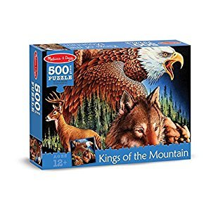Melissa & Doug 500-Piece King of the Mountain Wild Forest Animals Jigsaw Puzzle