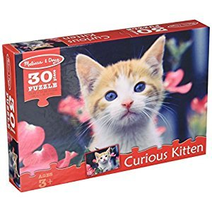 Melissa & Doug Curious Kitten Garden Cat Jigsaw Puzzle (30 pcs)