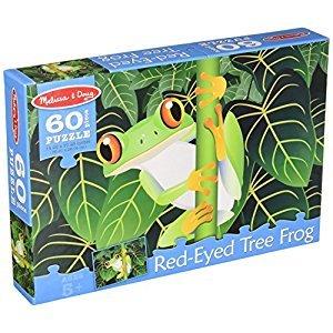 Melissa & Doug Red-Eyed Tree Frog Jigsaw Puzzle (60 pcs)