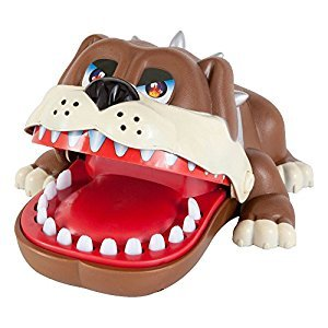 Bits and Pieces - Hungry Snappy Dog Game - Dentist Game - Classic Biting Hand Game-Catch Me Game, Vicious Dog Attack, Fun Game - Measures 6-1/2