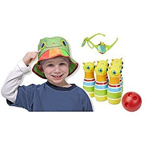 Melissa & Doug Sunny Patch Giddy Buggy Bowling Set with Hat and Flip-Up Sunglasses COMBO