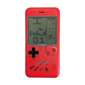 Classic Tetris Handheld Game for Children Student Nostalgia Puzzle Small MiniGame (Red)