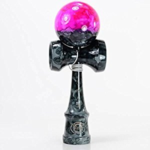 Kendama KCS - Full Body - Grey - Pink Graffiti