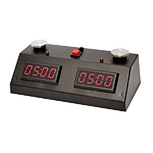 ZMart Fun ZMF-II Digital Chess Clock - Red LED Display / Black Case