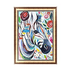 EA-STONE Zebra 5D Diamond Painting Embroidery Cross Stitch Craft Home Wall Decor