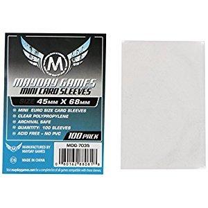 Mini Euro Game Play Card Sleeves (100 Sleeves/Pack - 45 MM X 68 MM)