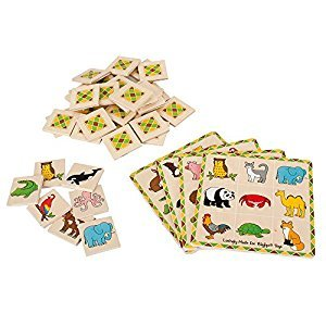 Bigjigs Toys BJ791 Lotto Matching Game-Educational Learning Games