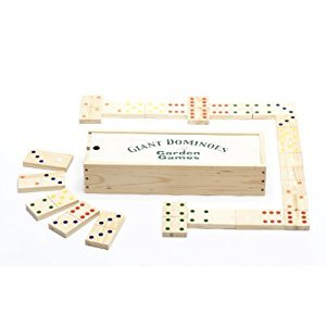 Garden Games Giant Wooden Dominoes in Wooden Case