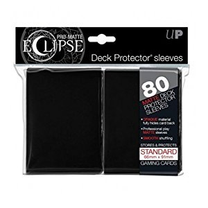 Card Sleeves 80-pack Pro-Matte Eclipse Standard Size: Black