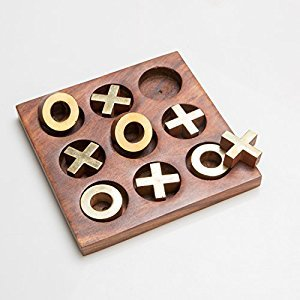 Rusticity Wooden Tic Tac Toe Game Board   Handmade   (5x5 in)
